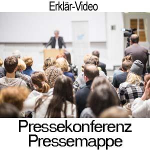 Pressekonferenz und Pressemappe