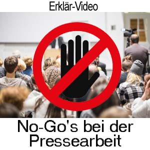 No-Go's bei der Pressearbeit für Künstler